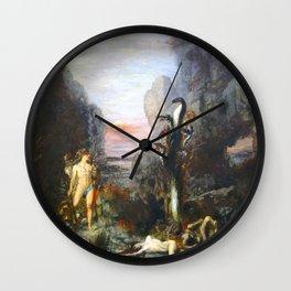 The Lernaean Hydra by Gustave Moreau (1876) Wall Clock