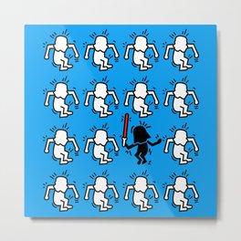 Keith Haring & star W. Metal Print
