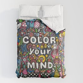 color your mind by Astorg Audrey Comforters