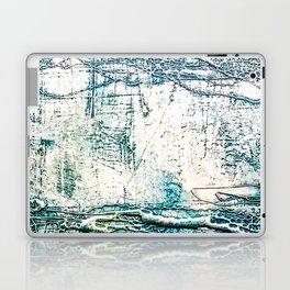Subtle Blue Textured Acrylic Painting Laptop & iPad Skin