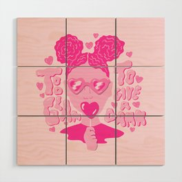 Too Glam to Give a Damn Wood Wall Art