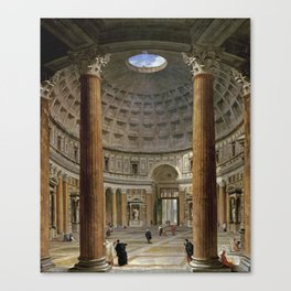 Giovanni Paolo Panini  -  The Interior Of The Pantheon  Rome Canvas Print