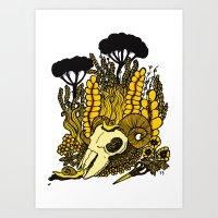Sheep Skull Art Print