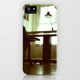 Light On Drafting Table iPhone Case