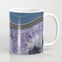 geode Mugs featuring Amethyst Geode Agate by CAROL HU