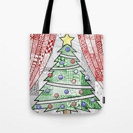 Coloured Christmas Tree Tote Bag
