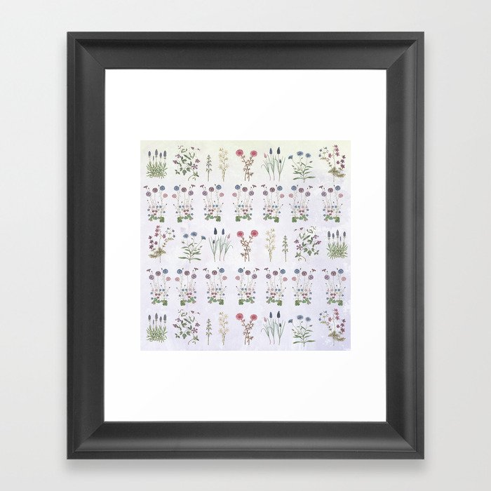 Growing a garden Framed Art Print