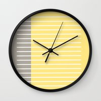 writing Wall Clocks featuring Writing Lines by Alisa Joy