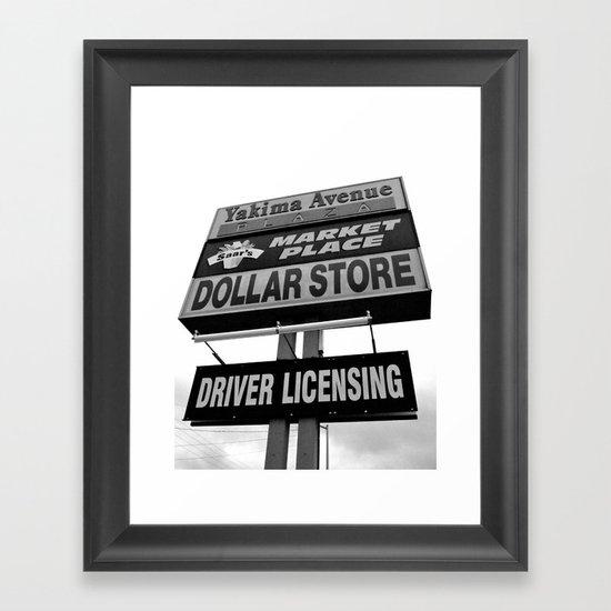 Yakima Ave. Plaza Framed Art Print