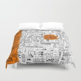 Looking Back to the Future Duvet Cover