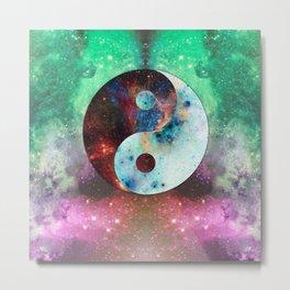 Ying-Yang Galaxy Metal Print