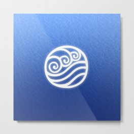 Avatar Water Bending Element Symbol Metal Print