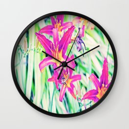 Daylillys Wall Clock