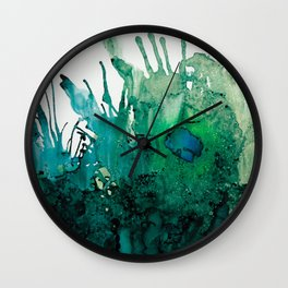 LITTLE BLUE FISH Wall Clock