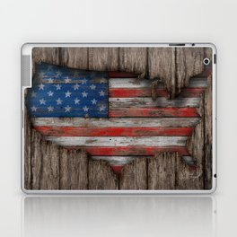 American Wood Flag Laptop & iPad Skin