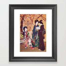 Vintage Oriental Kimono Shop Ad Framed Art Print