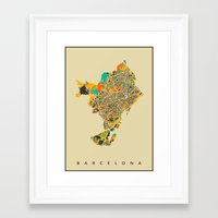 barcelona Framed Art Prints featuring Barcelona by Nicksman
