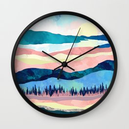 Winter Sunset Wall Clock