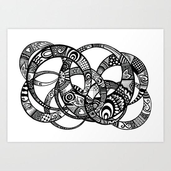 Interlinking Art Print