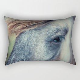 Blue grey horse Rectangular Pillow