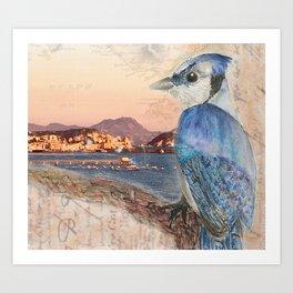 Bird Watching Over Tyrrhenian Sea Art Print