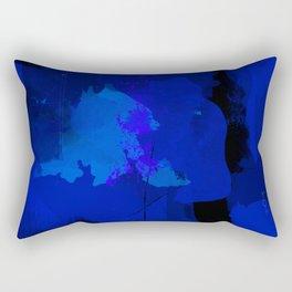 Night blue strokes Dark blue and black abstract painting B01YK Rectangular Pillow