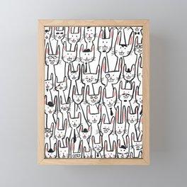 Bunny family Framed Mini Art Print