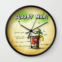 cocktail Wall Clocks featuring Cocktail by WonderfulDreamPicture