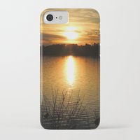thanksgiving iPhone & iPod Cases featuring Thanksgiving Sky by Mim White