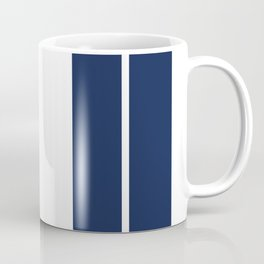 Blue on White Racing Stripes Coffee Mug