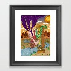 Grandfather Daughter Framed Art Print