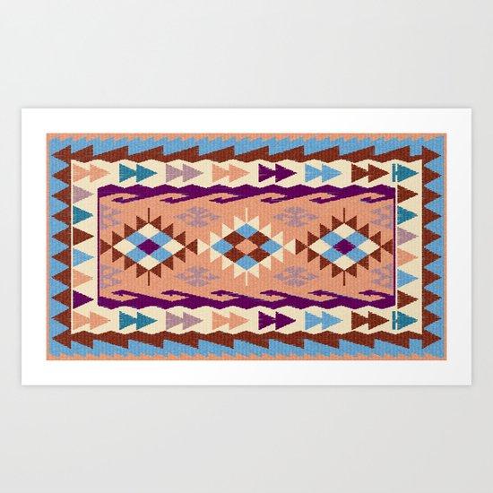 Kilim Rug Art Print