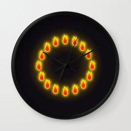Burnin' Ring-O-Fire Wall Clock