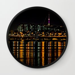 Seoul City Lights Wall Clock