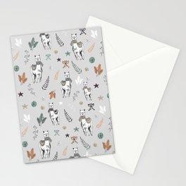 Holiday Alpaca Patten / Christmas Alpaca / Winter Alpaca / Cute Alpaca / Cozy Animal Stationery Cards