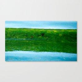 green seaweed Canvas Print