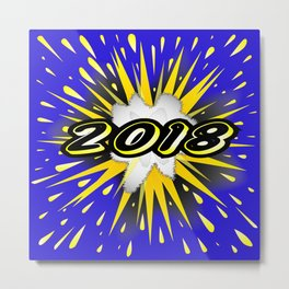 2018 Cartoon Bubble Metal Print
