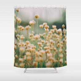 Vintage Chamomile Wildflowers Shower Curtain