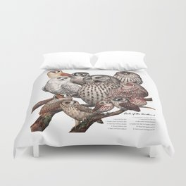Owls of the Northeast Duvet Cover