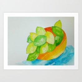 Lime Bowl Art Print