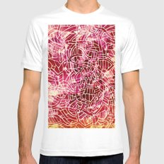 - red palace - MEDIUM Mens Fitted Tee White