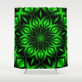 Mandala Green 6 Shower Curtain