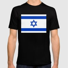 National Flag of the State of Israel Mens Fitted Tee LARGE Black