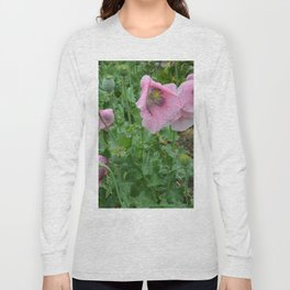 Poppies in rain Long Sleeve T-shirt