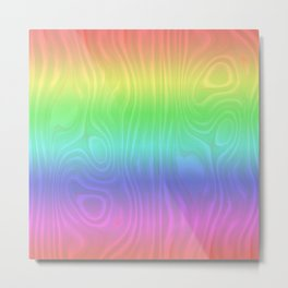 Groovy Pastel Rainbow Metal Print
