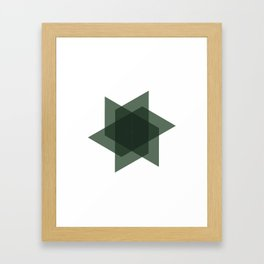 #226 Intersection – Geometry Daily Framed Art Print