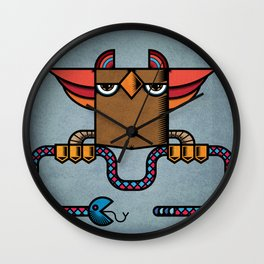 The Owl and the Pac Snake Wall Clock