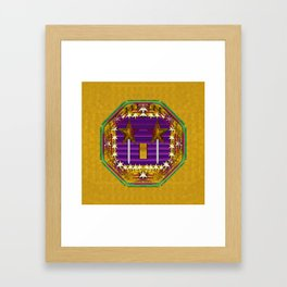 Stars of the magical wand in a golden moonlight night Framed Art Print