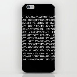 1000 Digits of Pi (Black) iPhone Skin