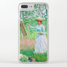 Monet - In the Woods at Giverny Clear iPhone Case